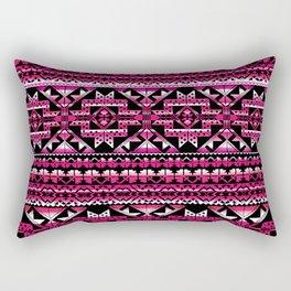 aztec geo in all berry Rectangular Pillow