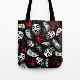 Anarchy Madness Collage Tote Bag