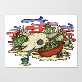 Skullweeds Canvas Print