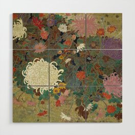flower【Japanese painting】 Wood Wall Art