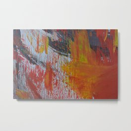 Abstract Paint Swipes Metal Print