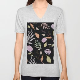 Simple and stylized flowers 20 Unisex V-Neck