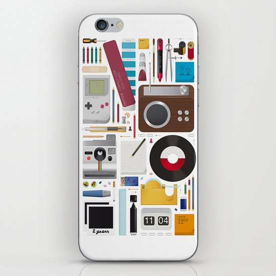Stuff (white background) iPhone & iPod Skin