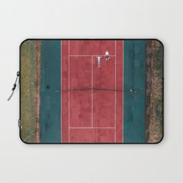 Tennis court, view of drone Laptop Sleeve