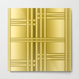 Abstract background with gold bars Metal Print
