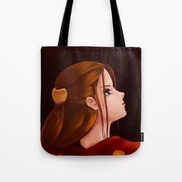 Looking Back - Original Painting Tote Bag