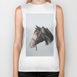 Paint Horse Biker Tank