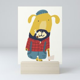 Rugged Roger - the lumberjack Mini Art Print