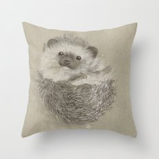 Peekaboo Hedgehog Throw Pillow