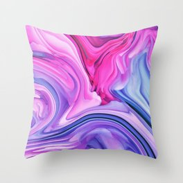 Marble Pastel / Melting Marble Throw Pillow