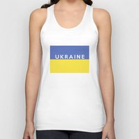 ukraine Tank Tops featuring Ukraine country flag name text by tony tudor