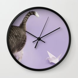 Did it with my claws Wall Clock