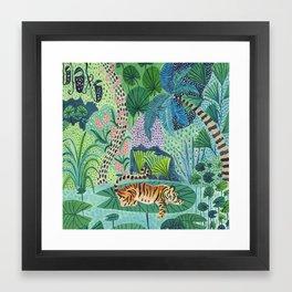 Jungle Tiger Framed Art Print