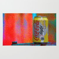coke Area & Throw Rugs featuring Groovy Coke by BOG Design