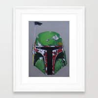 boba Framed Art Prints featuring Boba by Mowgli Tattoo