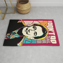 Salvador Dali, Psychedelic Pop Art inspirational quote Rug