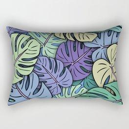 Monstera Leaves #6 Rectangular Pillow