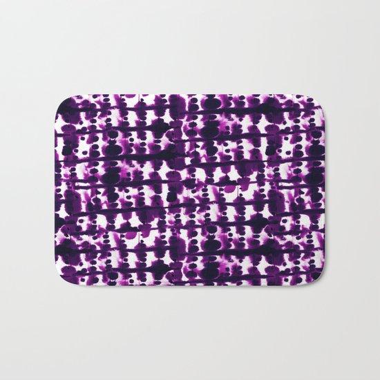 Parallel Purple Bath Mat
