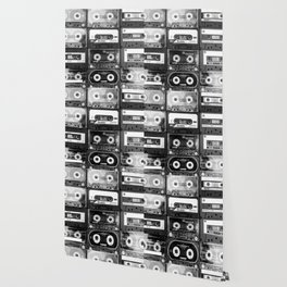 Something Nostalgic - black and white #decor #buyart #society6 Wallpaper