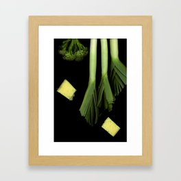 Leeks and Cheese Framed Art Print