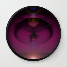 Cosmic Plumb. Wall Clock