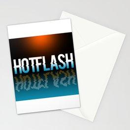 Hot Flash - Black Background Stationery Cards