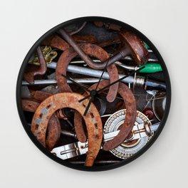 Rustic Tools Wall Clock