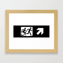 Wheelchair Disabled Exit Sign, with Accessible Means of Egress Icon Framed Art Print
