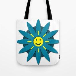 Smiley flower Tote Bag