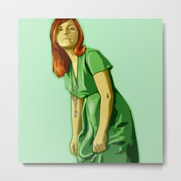 Green Mary Metal Print