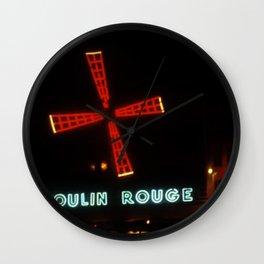 "Moulin ""RED"" - Paris - Vintage Wall Clock"