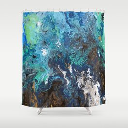 Freedom from Oil Part 2 Shower Curtain
