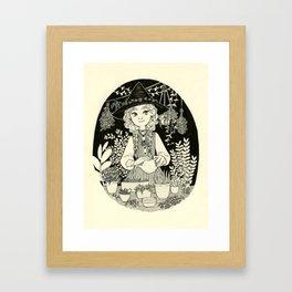 Chamomile witch Framed Art Print