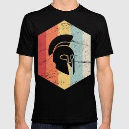 Retro Sparta Helmet Icon T-shirt