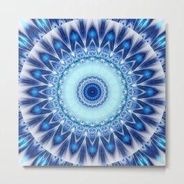 Mandala Iceblue Metal Print