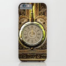 Steampunk, awesome clock and gears Slim Case iPhone 6s