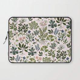 Herbarium ~ vintage inspired botanical art print ~ white Laptop Sleeve