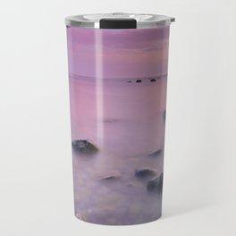 """""""Pink Sunset. Mediterranean sea."""" Travel Mug"""