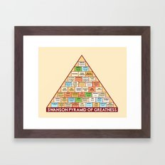 ron swanson's pyramid of greatness Framed Art Print