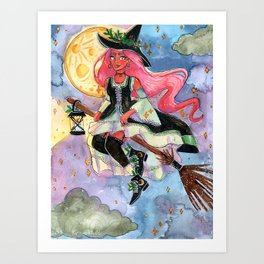 Flying Witch  Art Print