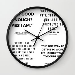 Michelle Obama Quotes | Brene Brown Quotes Wall Clock