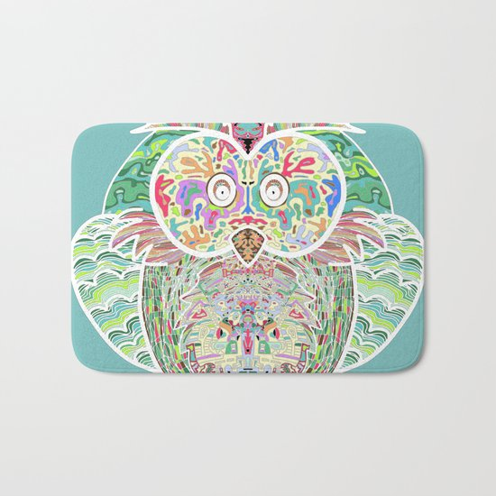 RAINBOW OWL Bath Mat