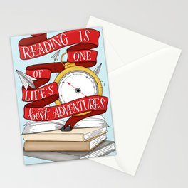 Reading is One of Life's Best Adventures Stationery Cards