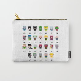 Pixel Supervillain Alphabet 2 Carry-All Pouch