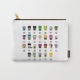 Pixel Supervillain Alphabet 2 Carry-All Pouch