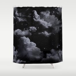Night Sky with Clouds Shower Curtain