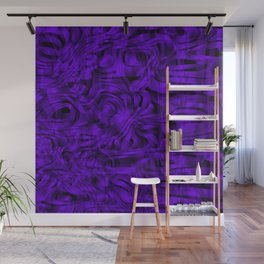 Chaotic spots and scribbles in violet colors on a dark. Wall Mural