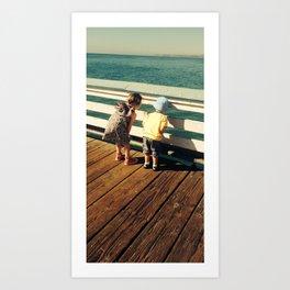 San Clemente Pier Kids Art Print