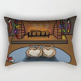 Cozy Corgi Christmas Rectangular Pillow