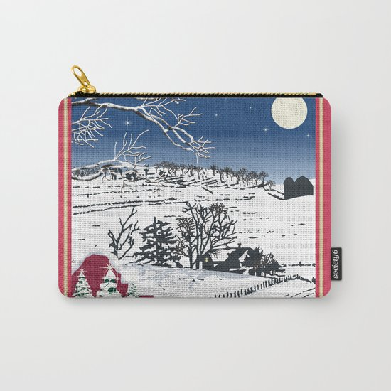 Silent Winter Night Silhouette Carry-All Pouch